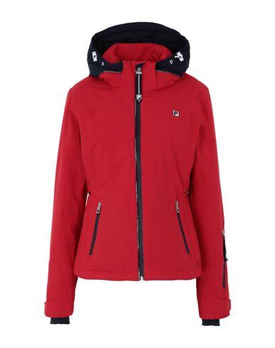 Fila Heritage | Красный Женская красная куртка FILA HERITAGE техническая ткань | Clouty