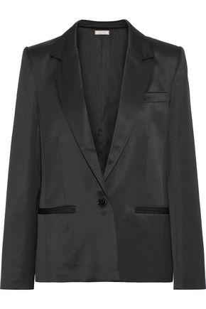 NINA RICCI | Nina Ricci Woman Satin-crepe Blazer Black | Clouty