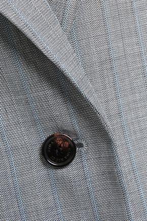 NINA RICCI | Nina Ricci Woman Printed Wool-blend Blazer Gray | Clouty