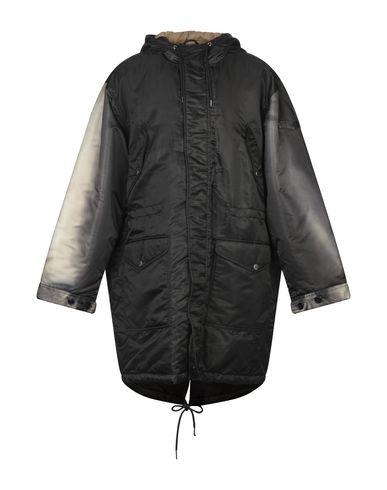 DIESEL | Черный Мужское черное пальто DIESEL техническая ткань | Clouty