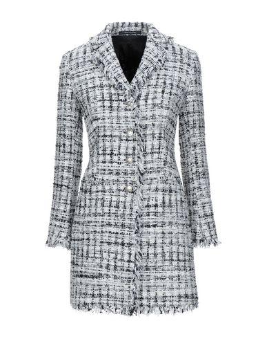 Tagliatore 0205 | Белый Женское белое пальто TAGLIATORE 02-05 ламе | Clouty