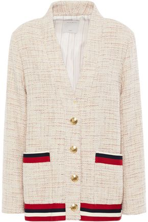 Sandro | Sandro Woman Adelaide Metallic-trimmed Tweed Jacket Beige | Clouty