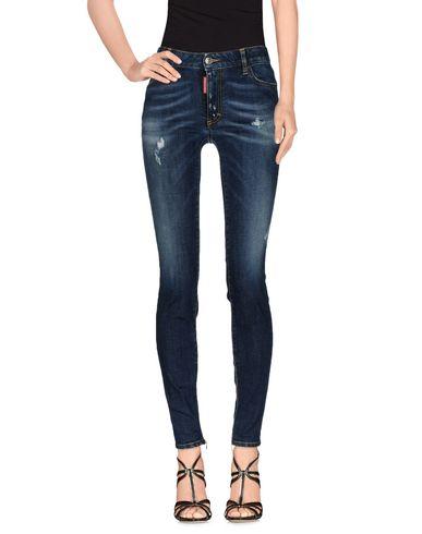 DSQUARED2 | Синий Женские синие джинсовые брюки DSQUARED2 тёмный деним | Clouty