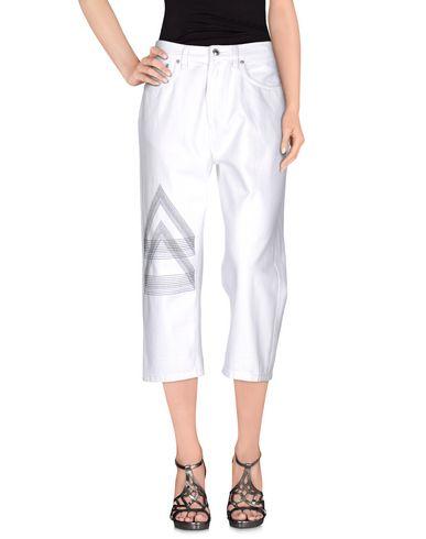 Marc by Marc Jacobs | Белый Женские белые джинсовые брюки капри MARC BY MARC JACOBS деним | Clouty