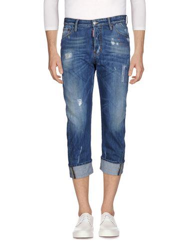 DSQUARED2   Синий Мужские синие джинсовые брюки капри DSQUARED2 классический цвет   Clouty
