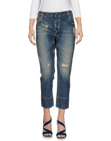 BALMAIN | Синий Женские синие джинсовые брюки капри PIERRE BALMAIN Деним | Clouty