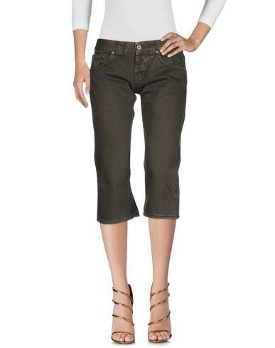 Dondup | Темно-зеленый; Коричневый Женские темно-зеленые джинсовые брюки капри DONDUP STANDART деним | Clouty