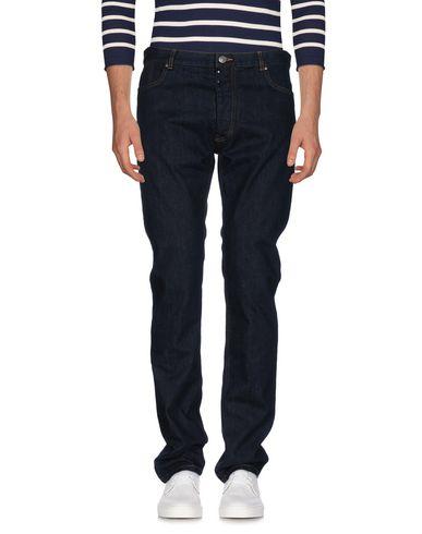 Maison Margiela | Синий Мужские синие джинсовые брюки MAISON MARGIELA тёмный деним | Clouty
