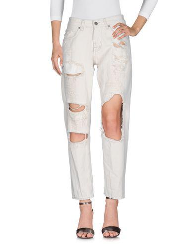2W2M | Светло-серый Женские светло-серые джинсовые брюки 2W2M деним | Clouty