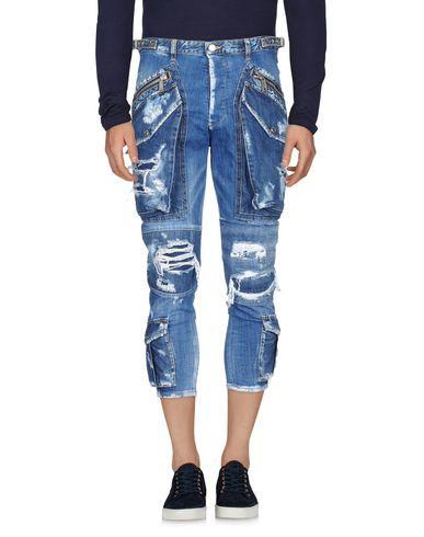 DSQUARED2 | Синий Мужские синие джинсовые брюки капри DSQUARED2 деним | Clouty