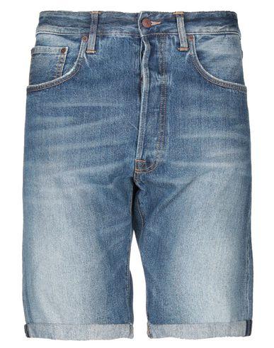 (+) People | Синий Мужские синие джинсовые бермуды (+) PEOPLE деним | Clouty