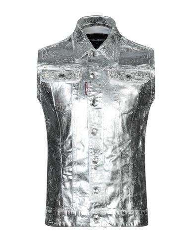 DSQUARED2 | Серебристый Мужская серебристая джинсовая верхняя одежда DSQUARED2 деним | Clouty