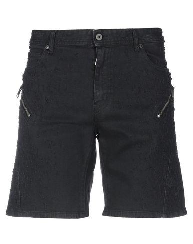 JUST CAVALLI | Черный Мужские черные джинсовые бермуды JUST CAVALLI деним | Clouty