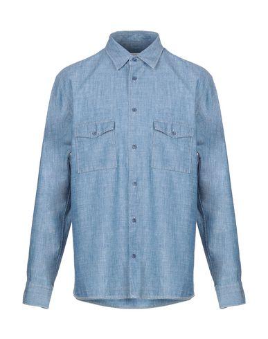 Grifoni   Синий Мужская синяя джинсовая рубашка MAURO GRIFONI деним   Clouty