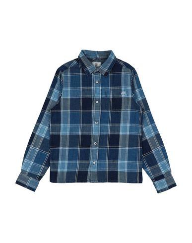 Timberland | Синий Детская синяя джинсовая рубашка TIMBERLAND деним | Clouty