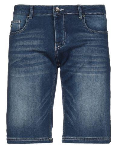 Fred Mello | Синий Мужские синие джинсовые бермуды FRED MELLO деним | Clouty