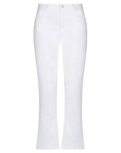 Haikure | Белый; Светло-розовый Женские белые джинсовые брюки HAIKURE деним | Clouty
