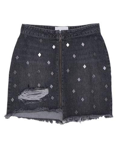 One X OneTeaspoon | Свинцово-серый Джинсовая юбка ONE x ONETEASPOON деним | Clouty