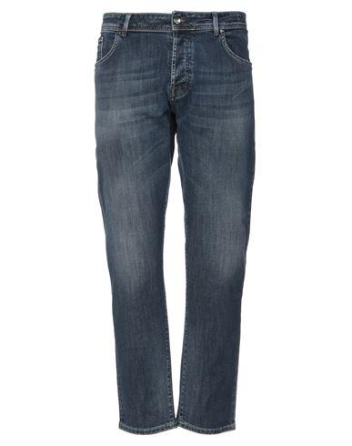 BRO-SHIP   Синий Мужские синие джинсовые брюки капри BRO-SHIP деним   Clouty