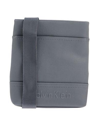 Calvin Klein | Свинцово-серый Мужская сумка через плечо CALVIN KLEIN средний размер | Clouty