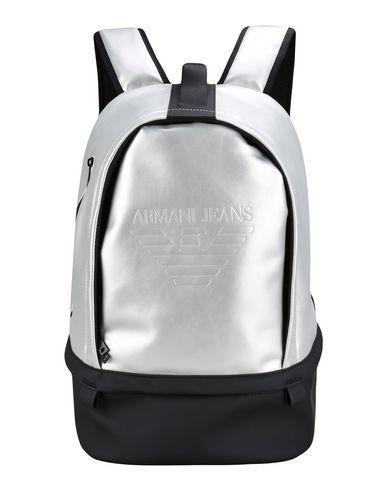Armani Jeans | Серебристый Мужские серебристые рюкзаки и сумки на пояс ARMANI JEANS Макси | Clouty