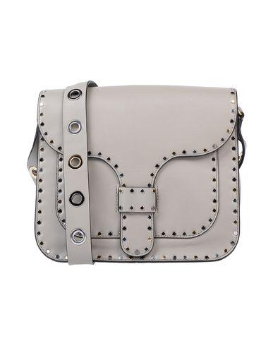 Rebecca Minkoff | Серый; Черный Женская серая сумка через плечо REBECCA MINKOFF маленький размер | Clouty