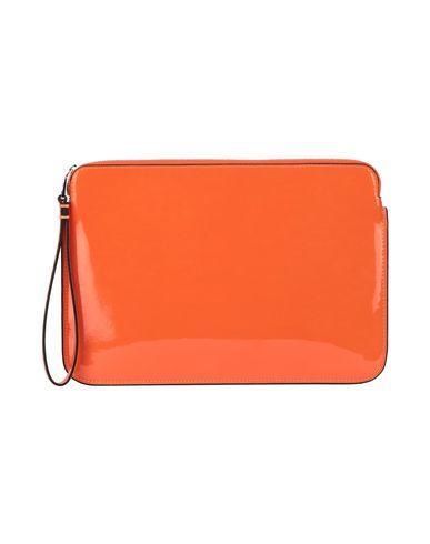 Calvin Klein Jeans | Оранжевый; Черный; Светло-розовый Оранжевая сумка на руку CALVIN KLEIN JEANS средний размер | Clouty