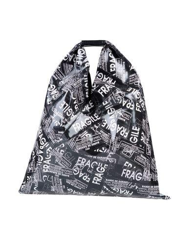 MM6 Maison Margiela | Черный Женская черная сумка на руку MM6 MAISON MARGIELA макси | Clouty
