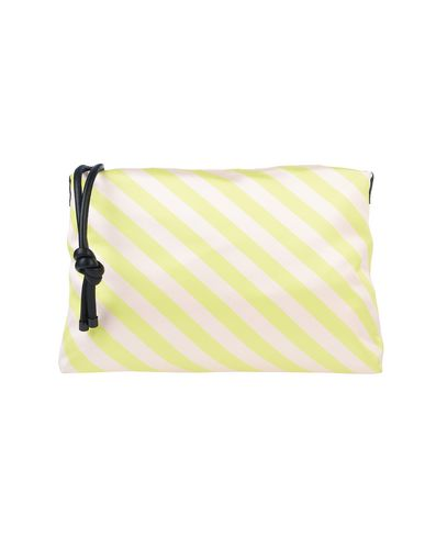 Dries Van Noten | Желтый Женская желтая сумка на руку DRIES VAN NOTEN кожаные аппликации | Clouty