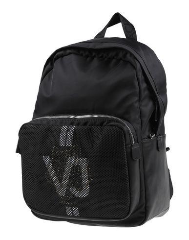 Versace Jeans | Черный Мужские черные рюкзаки и сумки на пояс VERSACE JEANS макси | Clouty