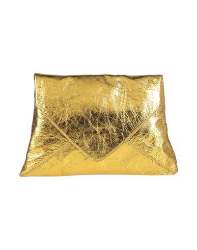 Dries Van Noten | Золотистый Женская золотистая сумка на руку DRIES VAN NOTEN кожа | Clouty