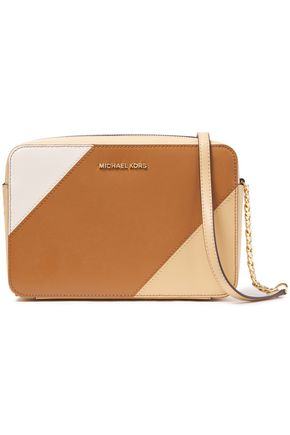 Michael Michael Kors | Michael Michael Kors Woman Color-block Leather Shoulder Bag Light Brown | Clouty