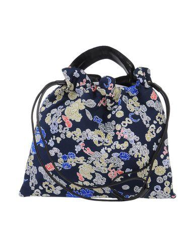 JIL SANDER | Темно-синий Мужская темно-синяя сумка на руку JIL SANDER габардин | Clouty
