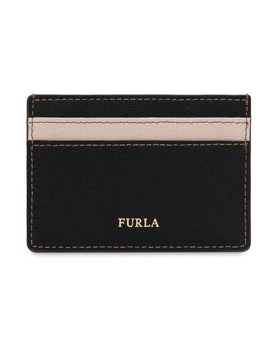 FURLA | Женский черный чехол для документов FURLA принт | Clouty