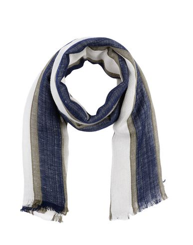 Gallieni   Мужской темно-синий шарф GALLIENI плотная ткань   Clouty