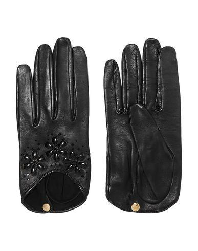 CAUSSE GANTIER | Черный Женские черные перчатки CAUSSE GANTIER кожа | Clouty