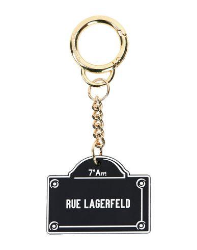 KARL LAGERFELD | Женский черный брелок для ключей KARL LAGERFELD логотип | Clouty