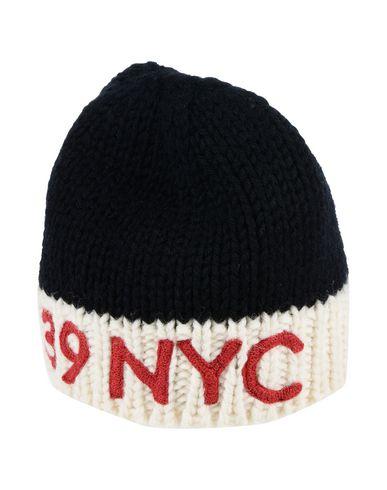 Calvin Klein   Темно-синий; Красный Мужской темно-синей головной убор CALVIN KLEIN 205W39NYC вязаное изделие   Clouty
