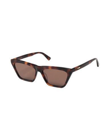 McQ Alexander Mcqueen | Коричневый Женские коричневые солнечные очки McQ Alexander McQueen логотип | Clouty