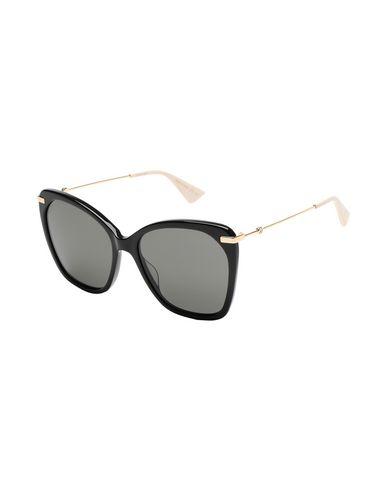 GUCCI | Черный Женские черные солнечные очки GUCCI логотип | Clouty