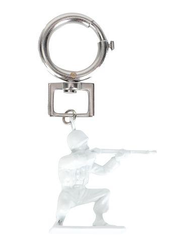 Maison Margiela   Мужской белый брелок для ключей MAISON MARGIELA логотип   Clouty