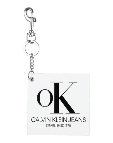 Calvin Klein Jeans   Мужской белый брелок для ключей CALVIN KLEIN JEANS логотип   Clouty