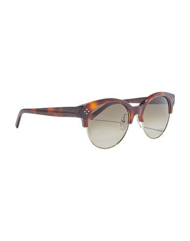 Chloé   Коричневый Женские коричневые солнечные очки CHLOE двухцветный узор   Clouty