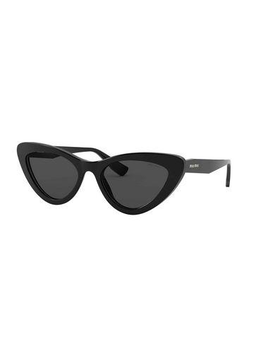 MIU MIU | Черный Женские черные солнечные очки MIU MIU логотип | Clouty