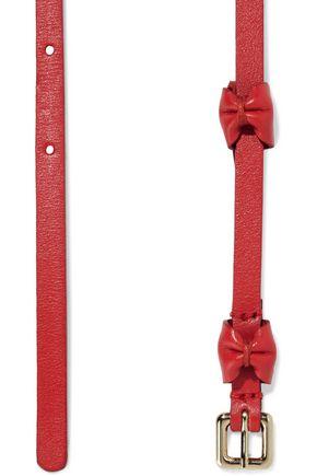 RED(V) | Red(v) Woman Bow-embellished Leather Belt Crimson | Clouty