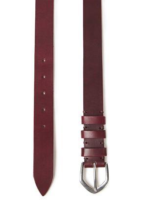 IRO | Iro Woman Deyvid Leather Belt Burgundy | Clouty