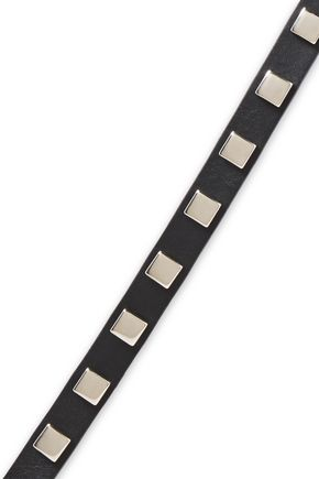 Alberta Ferretti   Alberta Ferretti Woman Studded Leather Belt Black   Clouty