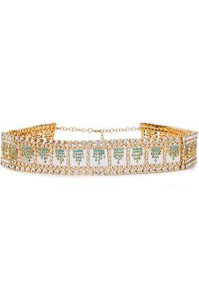 Rosantica   Rosantica Woman Divinita Gold-tone Crystal Belt   Clouty
