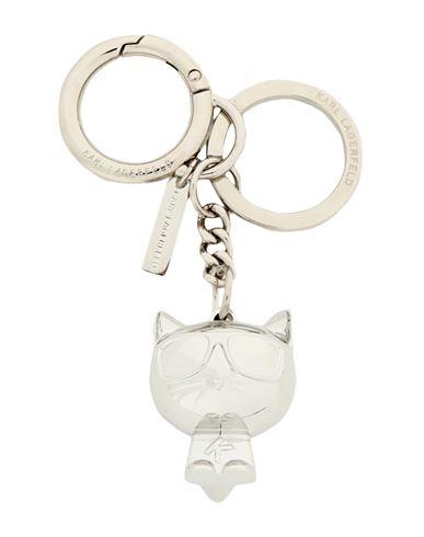 KARL LAGERFELD | Женский серебристый брелок для ключей KARL LAGERFELD | Clouty
