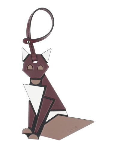 Tod's | Какао; Свинцово-серый Женский брелок для ключей TOD'S логотип | Clouty